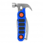 7-in-1 Hammer Tool with Nail Puller / Pliers / Screwdriver / Knife / Serrated Knife / Opener