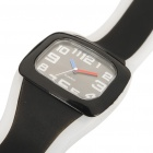 Outdoor Sports Silicone Quartz Wrist Watch - Black + Transparent