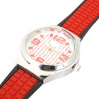 Outdoor Sports Silicone Wrist Watch - Black + Red