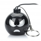 Funny Mini Bomb Style Rechargeable MP3 Music Speaker - Black (Fierce)