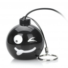 Funny Mini Bomb Style Rechargeable MP3 Music Speaker - Black (Naughty)