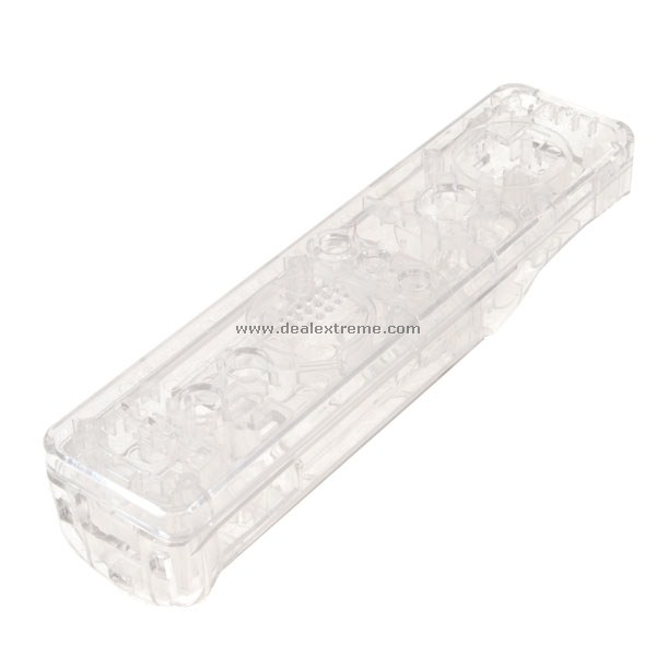 Crystal Transparent Replacement Controller Housing for Wii (with Installation Kit)