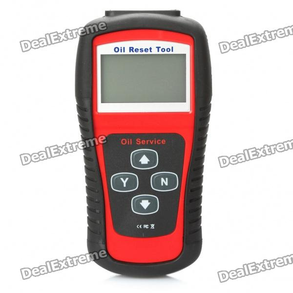 2.8 LCD Car Vehicle Oil Service and Airbag Reset Tool - Red + Black