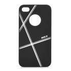 ROCK Stylish Protective PC Back Case for iPhone 4S - Black