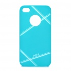 ROCK Stylish Protective PC Back Case for iPhone 4S - Blue