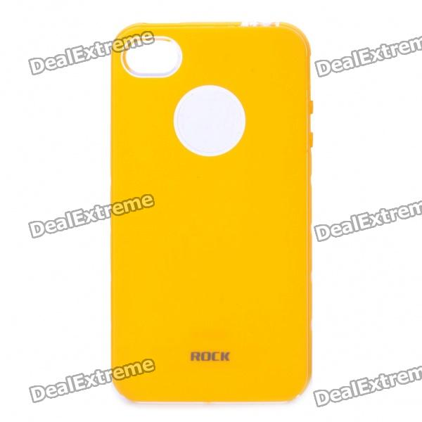 Rock Invigorate Protective TPU Case for Iphone 4S - Yellow