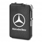 Automatic Ejection Butane Lighter Cigarette Case - Black (Holds 10 / Benz Logo)