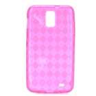 Protective TPU Back Case for Samsung Galaxy i727 - Transparent Deep Pink