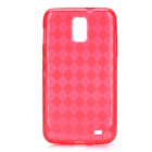 Protective TPU Back Case for Samsung Galaxy i727 - Transparent Red