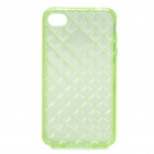 Protective TPU Back Case for Iphone 4 /4S - Transparent Green