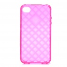 Protective TPU Back Case for iPhone 4 /4S - Transparent Deep Pink