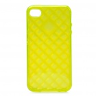 Protective TPU Back Case for Iphone 4 /4S - Transparent Yellow