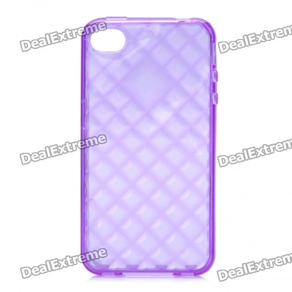 Protective TPU Back Case for Iphone 4 /4S - Transparent Purple glossy tpu gel back protection case for iphone 7 plus light purple