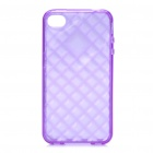 Protective TPU Back Case for Iphone 4 /4S - Transparent Purple