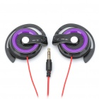 Designer Stereo Ear-Hook Headset Kopfhörer - Purple (3,5 mm-Stecker / 90cm-Kabel)