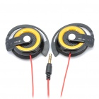 Designer's Stereo Ear-Hook Headset Earphone - Yellow (3.5mm-Plug / 90cm-Cable)