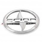 3D Scion Logo Badge White Brake Light - Silver (DC 12V)