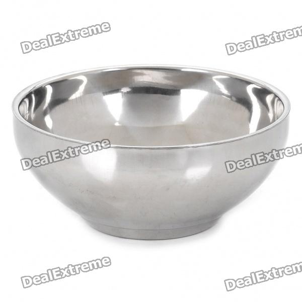 Double Layer Thermal Insulation Stainless Steel Bowl - Silver (300ml)