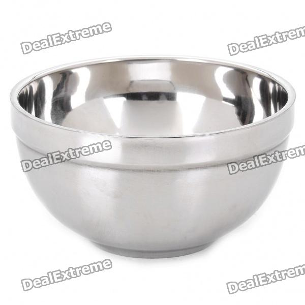 Stainless Steel Double Layer Thermal Insulation Bowl - Silver (300ml)
