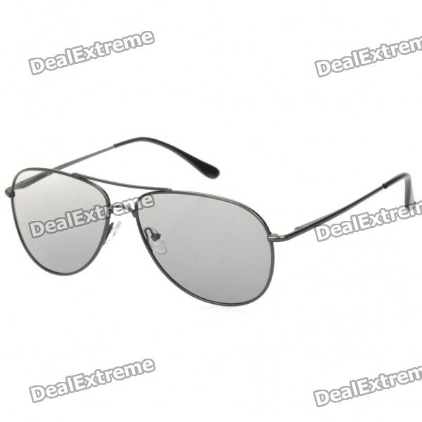 Stylish Non-Flash Circularly Polarized 3D Glasses - Iron Grey