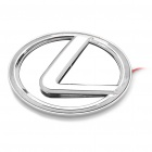 3D Lexus Logo Badge White Brake Light - Silver (DC 12V)