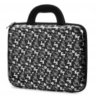 "Stylish Hello Kitty Pattern Hard Case Handbag for 14"" Laptop Notebook (Black + Silver)"