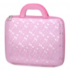 "Stylish Hello Kitty Pattern Hard Case Handbag for 14"" Laptop Notebook (Pink + Silver)"