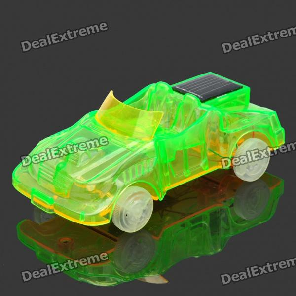Solar Powered Sport Car Toy - Green + Yellow