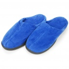 Unique Memory Foam Warm Keeping Slipper - Blue (Pair)