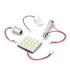 T10 / SV85 / BA9S 7.5W 12000K 600-Lumen 15-5630 SMD LED White Light Car Indoor Lamp (DC 12V)