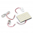 T10 / SV85 / BA9S 16W 12000K 1280-Lumen 32-5630 SMD LED White Light Car Indoor Lamp (DC 12V)