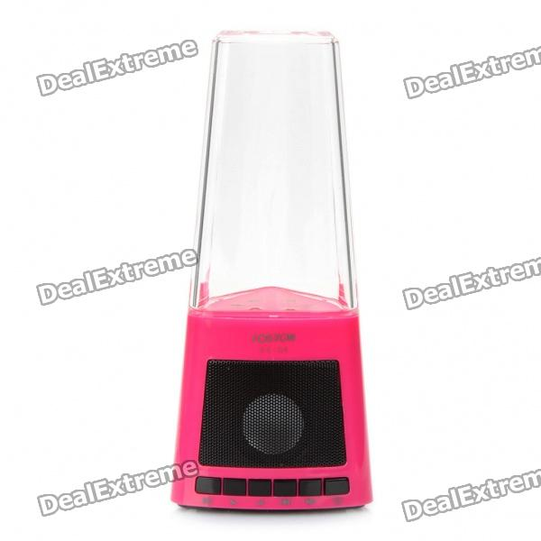 Fashion Fountain Style Rechargeable MP3 Player Speakers w/ AUX-In / USB / SD Slot - Pink