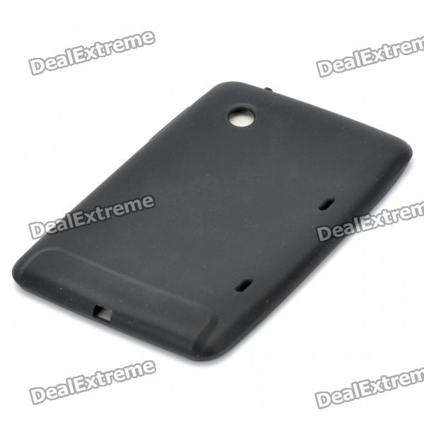 Protective Silicone Back Case for HTC Flyer - Black