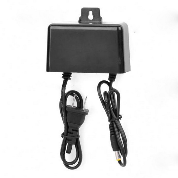 Water Resistant DC 12V 2.0A Power Adapter for Surveillance Camera (AC 100~240V / 2-Flat-Pin Plug)