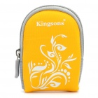 Protective Carrying Pouch w/ Carabiner Clip for Digital Camera / MP3 / MP4 / Cell Phone - Yellow