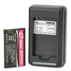 Replacement BL-4C 3.7V 2400mAh Battery w/ Charger for Nokia X2 / 8208 / 1202 + More