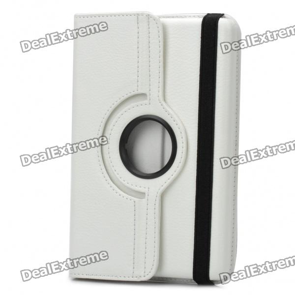 Protective PU Leather Case for Kindle Fire - White for amazon 2017 new kindle fire hd 8 armor shockproof hybrid heavy duty protective stand cover case for kindle fire hd8 2017