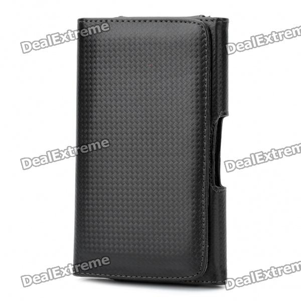 Protective PU Leather Case for Samsung Galaxy i9220 - Black