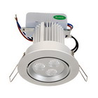 3-LED 9W Ceiling Lamp with Driver (100V~240V AC)