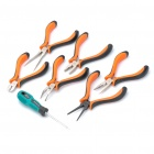 "7-in-1 6+1 Mini 4.5"" Pliers + Screwdriver Tools Set"
