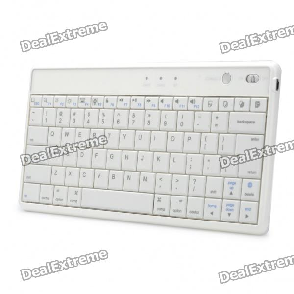 Rechargeable 2.4GHz Bluetooth V3.0 83-Key Wireless Keyboard - White