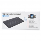 Rechargeable 2.4GHz Bluetooth V3.0 Wireless 83-Key Keyboard - Black
