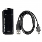 Emergency Charger w/ White LED Light & USB Cable for Samsung - Black
