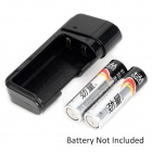 2xAA Powered Emergency Charger w/ White LED Light & USB Cable for Samsung i9220 / i9103 - Black