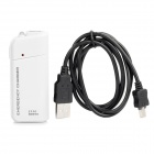2xAA Powered Emergency Charger w/ White LED Light & USB Cable for Samsung i9220 / i9103 - White