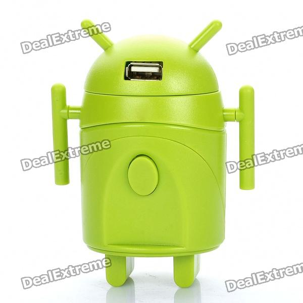 Android Robot Style Universal Travel AC Power Adapter Charger with USB Port (AU / UK / US / EU)