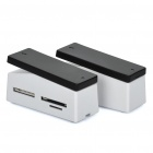Multifunction Stapler Style Card Reader + Stand Pad - White + Black