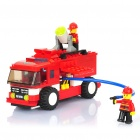 Intellectual DIY Assembly Fire Engine Car Toy (180-Piece)