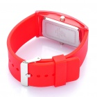 Fashion Silicone Band Red LED Water Resistant Wrist Watch - Red (1 x CR1620)