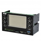 "3,7 ""LCD Temperatur / Lüfter Speed ​​Controller w / CF / SD MMC MS/M2/TF - Black"